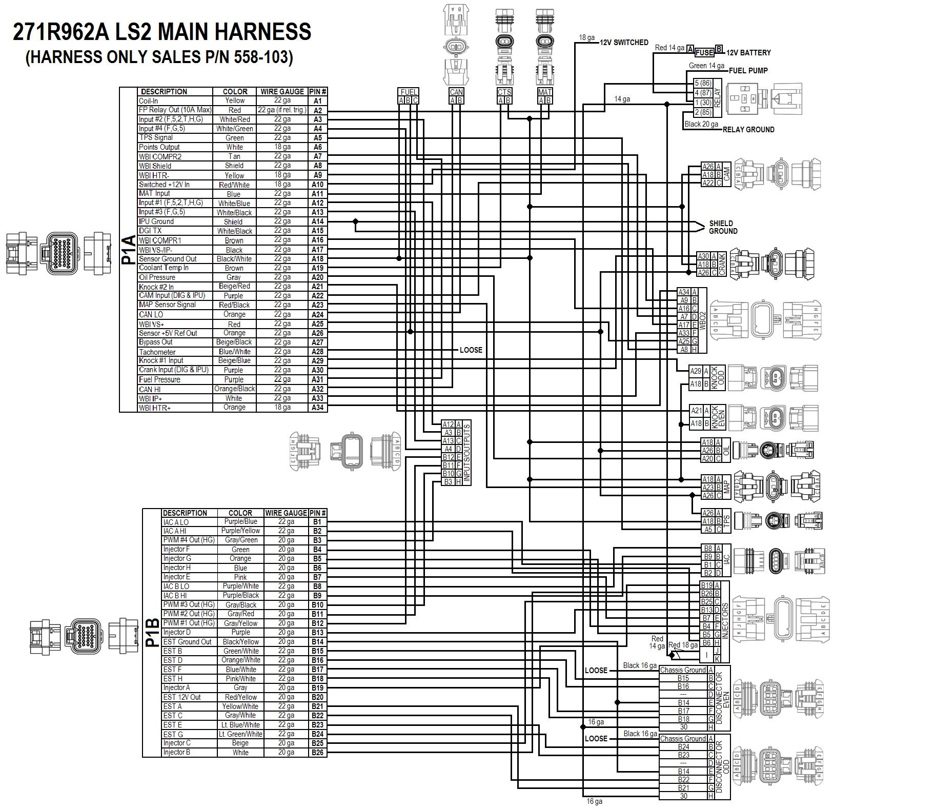 Gm 3 4 Efi Wire Harness Diagram Wiring Services Gmc 3l Ls2 7 58x Crank Sensor Hp Ecu Kits Rh Kcmaxxperformance Com Radio Drawing