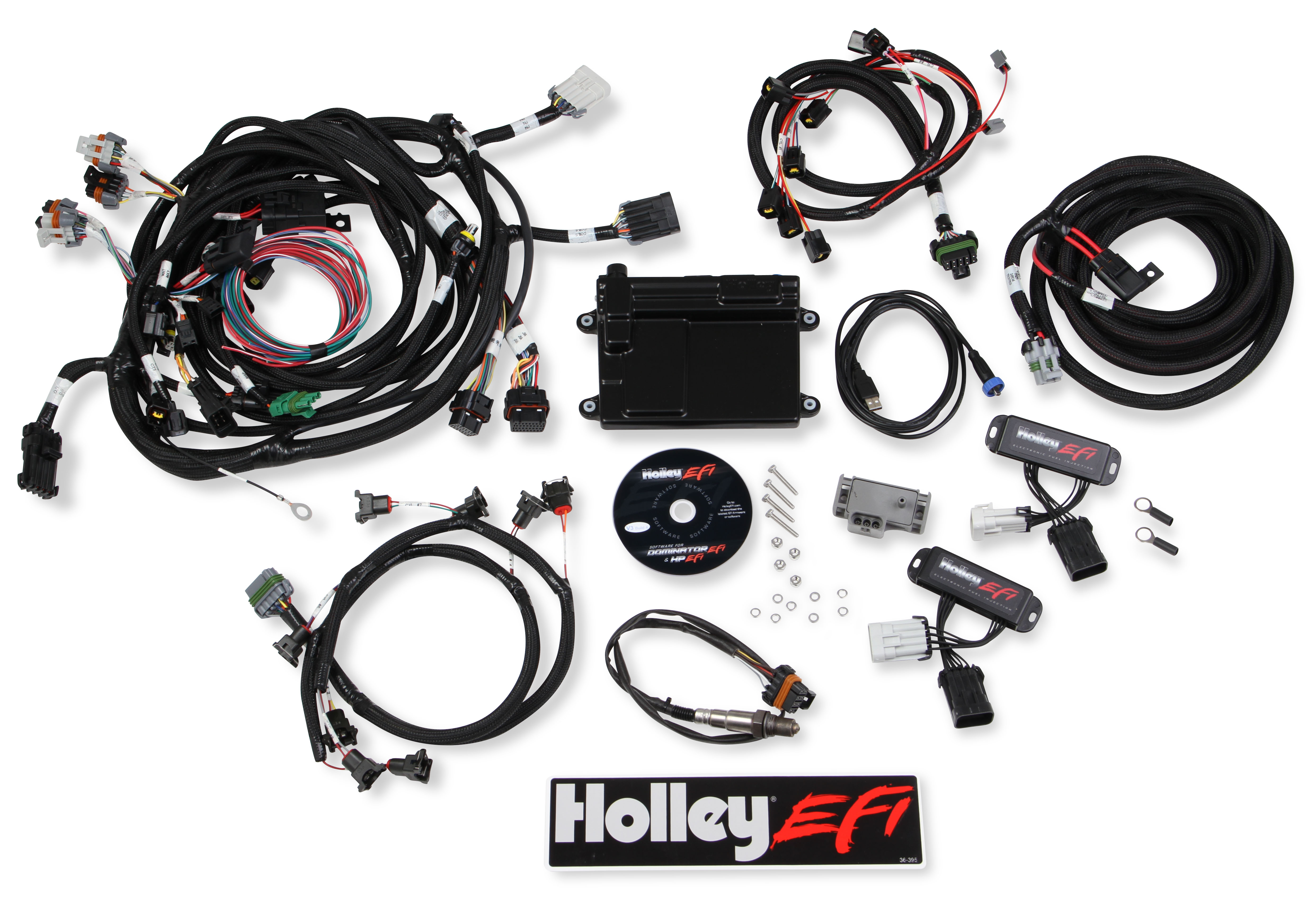 Holley 99-04 Ford Modular 4 Valve HP EFI ECU & HARNESS KITS on